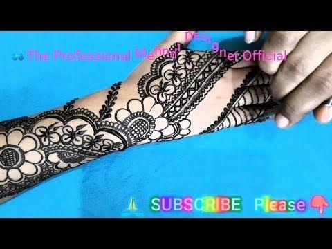 Easy and Simple Mehndi Design 2019 Full Hand Back Side