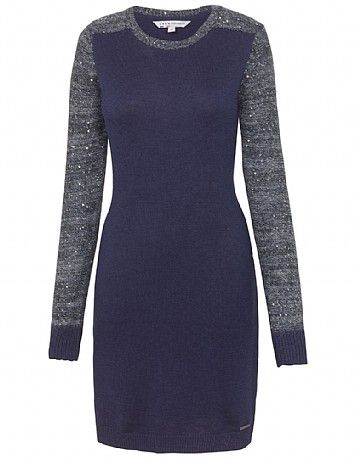 Women's Anastacia Dress in Navy from Crew Clothing: