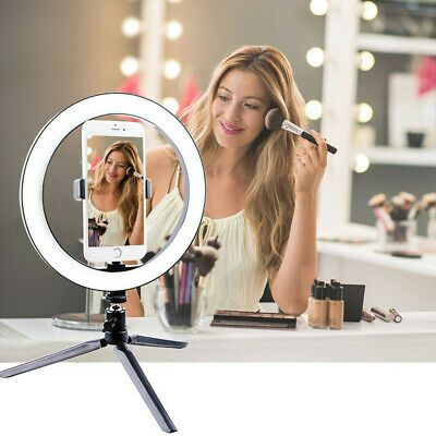 Ad 10 Led Ring Light W Stand Mount Kit For Camera Phone Selfie Video Live Stream Selfie Light Selfie Ring Light Led Selfie Ring Light