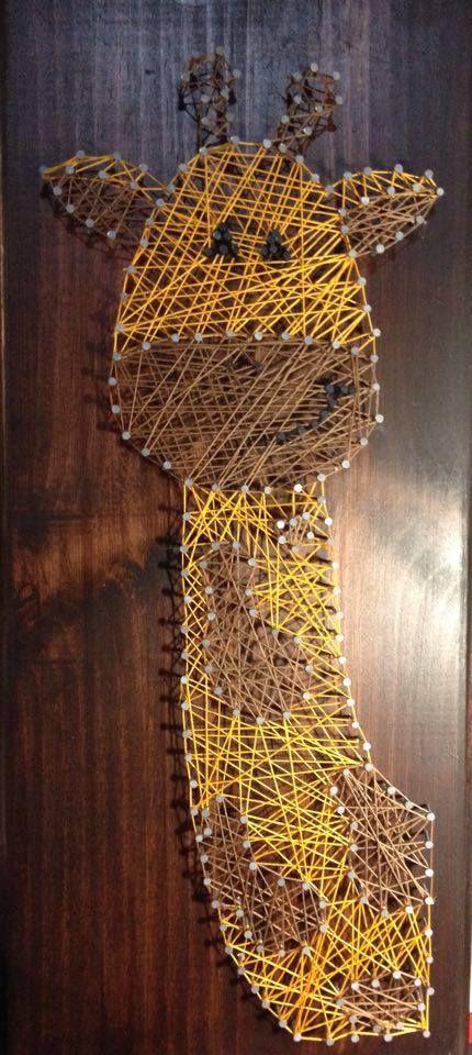 Giraffe, simple string art.