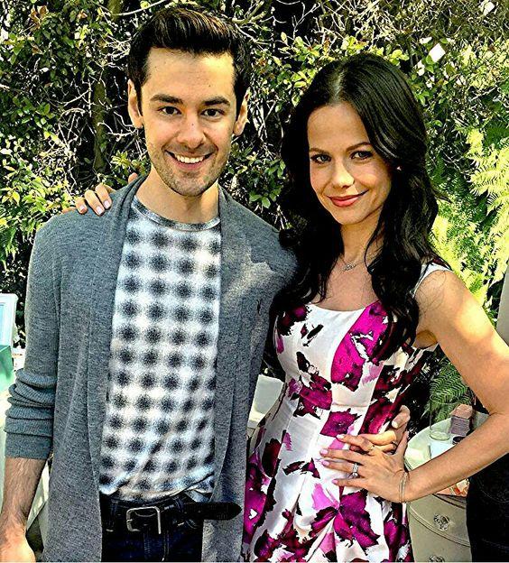 Pretty Little Liars behind the scenes season 7 Brendan Robinson is Lucas Gottsemen and Tammin Sursok as Jenna Marshall