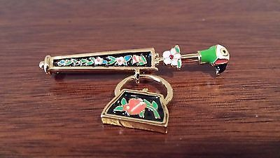 Disney Mary Poppins Umbrella and Carpet Bag Jewelry Brooch Pin VERY RARE!: