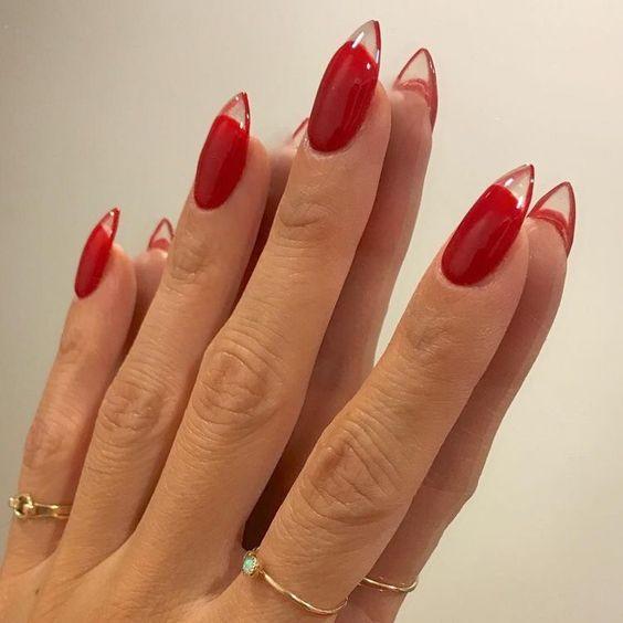 #nail #red #unha #vermelho