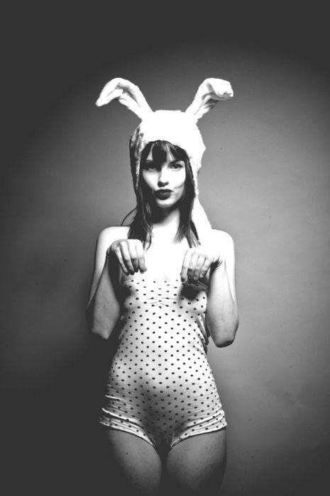 Tortoise and the Hare: Polka Dots, Black And White, Black White, Bunny Girls, Easter Bunny, Dot Bunny, Photography Blackandwhite, Bunnygirl