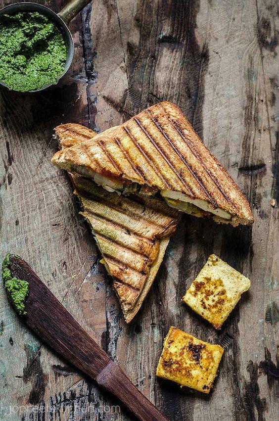 Sándwich de queso de soja Tikka