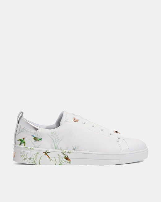 Printed tennis trainers - White | New