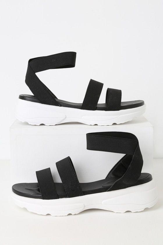 Lydia Black Platform Sandals   Black