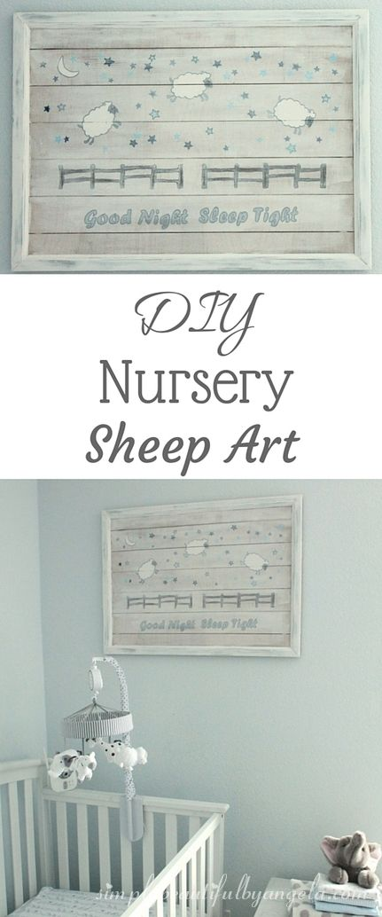 Get your little one to sleep with this DIY Nursery Art with sheep to count!