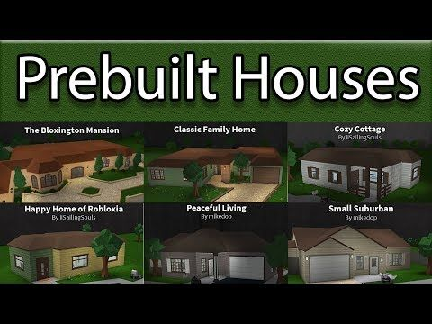 Reviewing All Prebuilt Houses Roblox Bloxburg Youtube