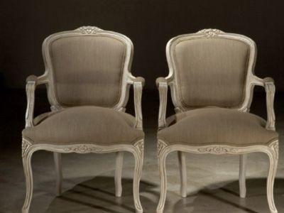 Sillas y sillones artespana sillon luis xv tapizado for Tresillos modernos