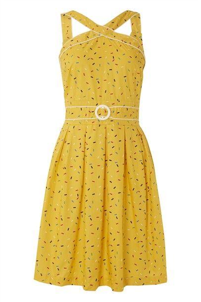 Cross My Heart Dress-143-YellowSprinkles $45.00 on mysale.com