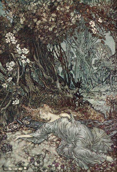Sueño de una noche de verano (Arthur Rackham):