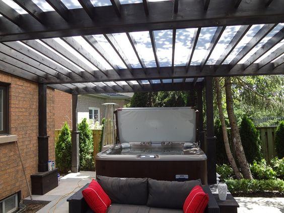 Pinterest the world s catalog of ideas for Hot tub shelter plans