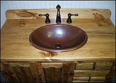 Photo of top view rustic bathroom vanity rustic Southwestern style bathroom vanities