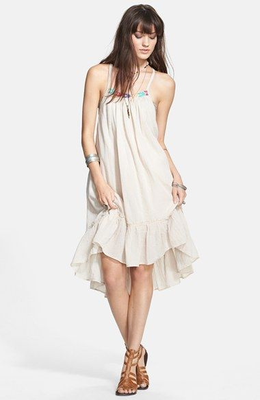 Free People Racerback Peasant Dress available at #Nordstrom$128...with an elastic belt above waist line
