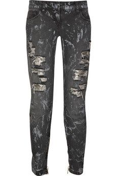 foil jeans | ... jeans $ 1610 washed black mid weight denim cropped skinny jeans with