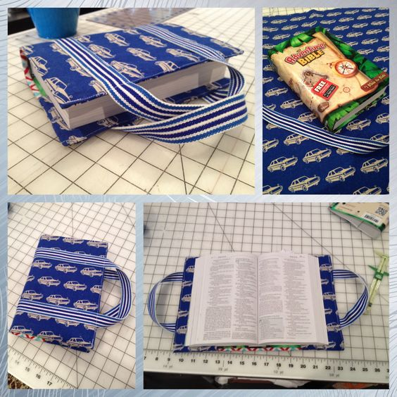 Bible Book Cover Sewing Pattern : Bible cover made with modified tutorial pattern linked to