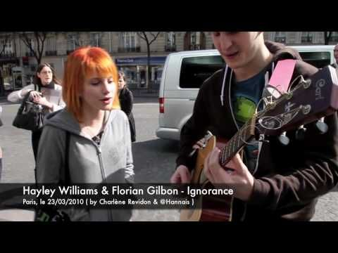 Hayley singing(Ignorance) with a random fan playing in the street. Yet another reason why this band is so awesome.