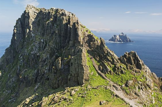 ╔╝ The island of Skellig Michael in IRELAND is also the location of a pivotal scene from the latest STAR WARS film. 2015 ╚╗