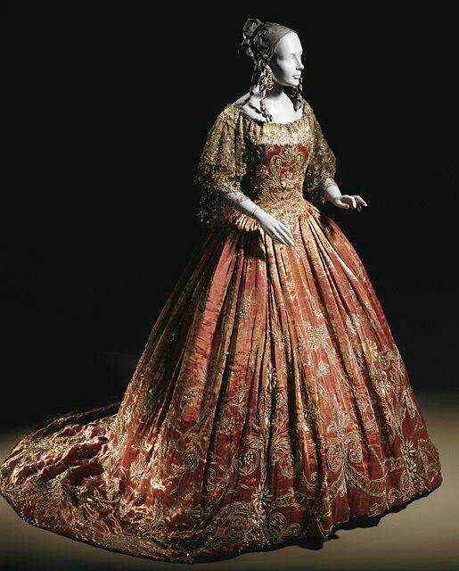 "Erte costume for ""La Traviata"" 1923:  Crinoline, Historical Fashion, 1923 Lacma, Historical Dress, Movie Costumes, Historical Costume, La Traviata Costumes"