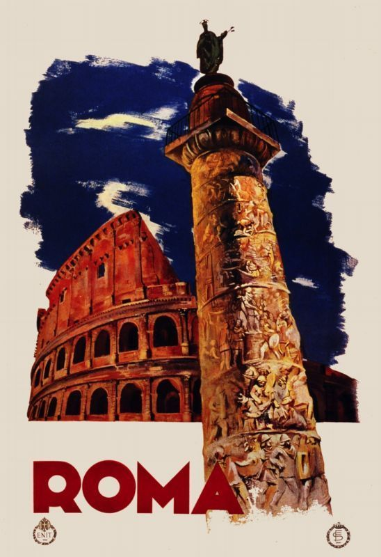 Details About Vintage Travel Poster Italy Rome Room Art Decor Bedroom Interior Design 1282 Vintage Travel Posters Vintage Posters Travel Posters