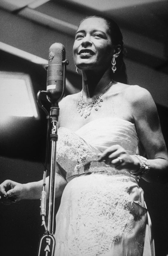 """Billie Holiday - Albums: 1 Singles: 5 First induction: """"God Bless The Child"""" (1976) Most recent: """"Crazy He Calls Me"""" (2010)"""