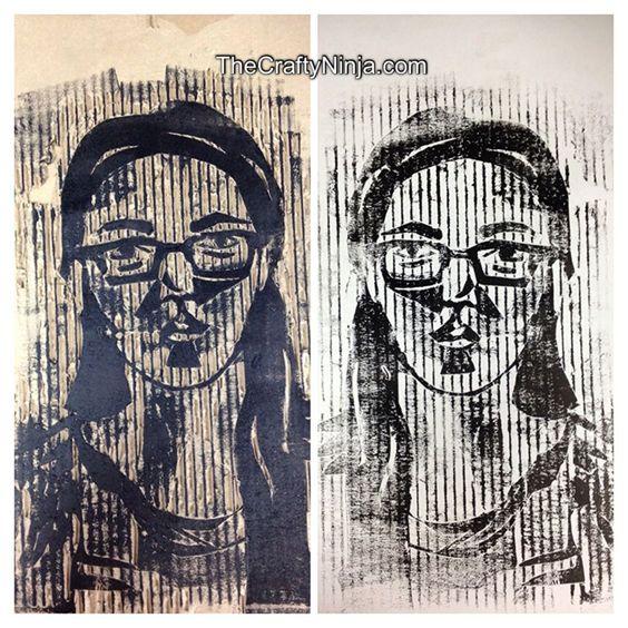 Cardboard Printmaking