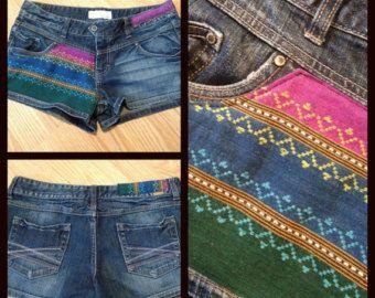 Tribal Upcycled Shorts - Size L/XL - Size 11/12 - Sweet Girly Shorts