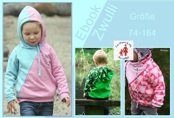 Nähanleitungen Baby - Ebook Zwulli Hoodie mit diagonaler Teilung - ein Designerstück von For-Mami-and-Me-by-LuMaLi bei DaWanda