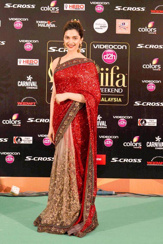 #Bollywood-#Deepikapadukone-half-saree-IIFA-2015: