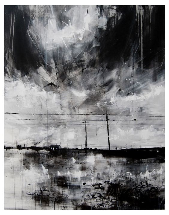 Dungeness — Anthony Garratt.  His work makes an otherwise boring landscape subject very complex and conglicted.  Wonderful invocation of thought, thought, feeling and inspiration.  It reminds me of wiping away ink from a printing plate, and my urge to leave a lot behind.