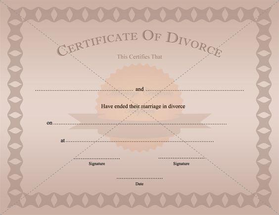 Divorce Certificate Template Printable - free divorce decree forms