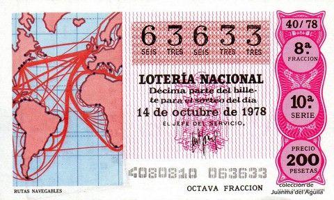 Décimo Del Sorteo Especial De Lotería De La Hispanidad Celebrado El 14 De Octubre De 1978 Coleccionismo Loteria Lotería Nacional Lotería Sorteo Especial