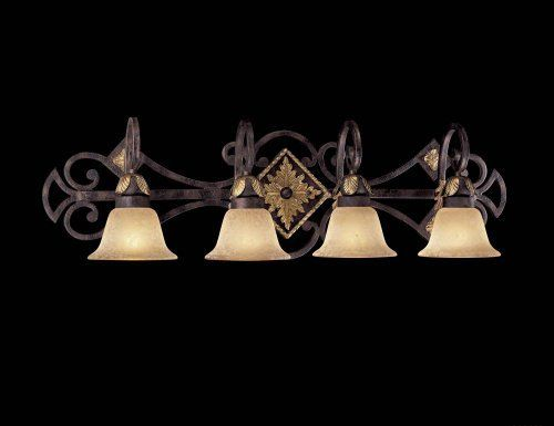 Metropolitan N2234-355 Bath Golden Bronze Salon Scavo Glass Zaragoza by Minka. $370.00. Metropolitan N2234-355 Wrought Iron frames, Golden Bronze finish, Salon Scavo glass Golden Bronze