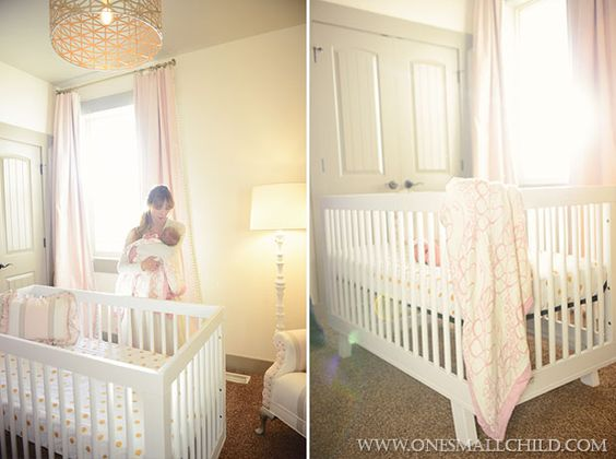 Nellie's Pink Gold and Grey Nursery