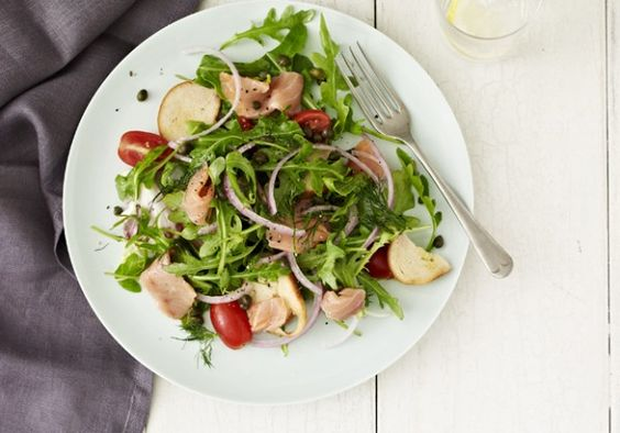 Smoked Salmon Salad and a Smokey Link up: