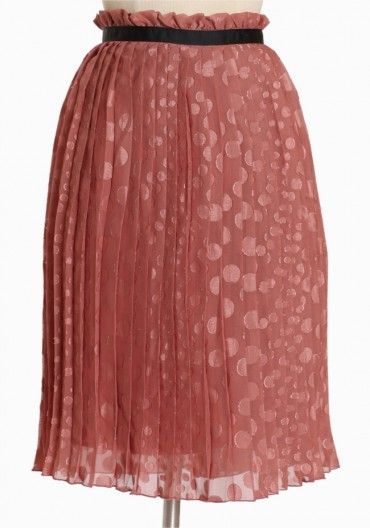 ruche: say pleat pink skirt