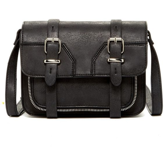 Steve Madden Double Buckle Flap Crossbody ($30) ❤ liked on Polyvore featuring bags, handbags, shoulder bags, black, flap shoulder bag, crossbody handbags, strap purse, flap crossbody and shoulder strap handbags