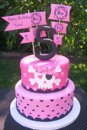 girl pirate cake