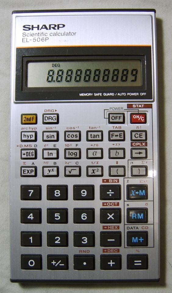 Sharp ElP Scientific Calculator  Calculator