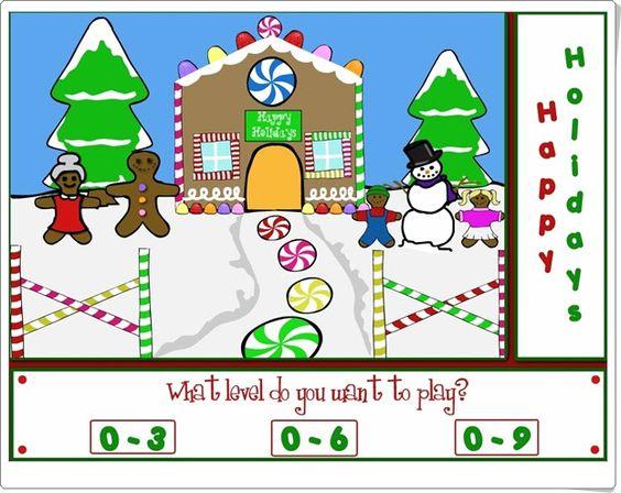 """""""Happy holidays"""" es un juego en el que, para componer un bonito paisaje navideño, es necesario acertar en el resultado de las sumas que se indican. Con tres niveles de dificultad para que puedan jugar niños de Educación Infantil y de 1º nivel de Educación Primaria."""
