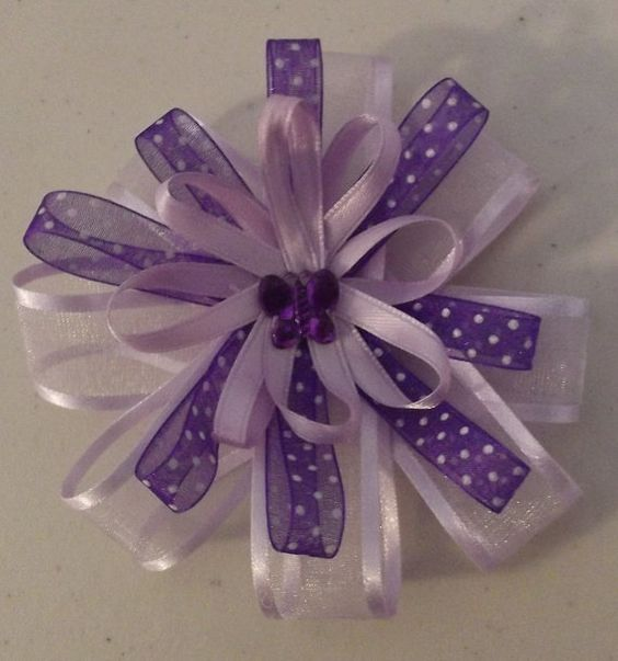 Hair Bow purple in color Absolutely by Deannaroserichardson, $2.00