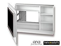 Panel TV Giratorio 90º con Estanteria - ONA