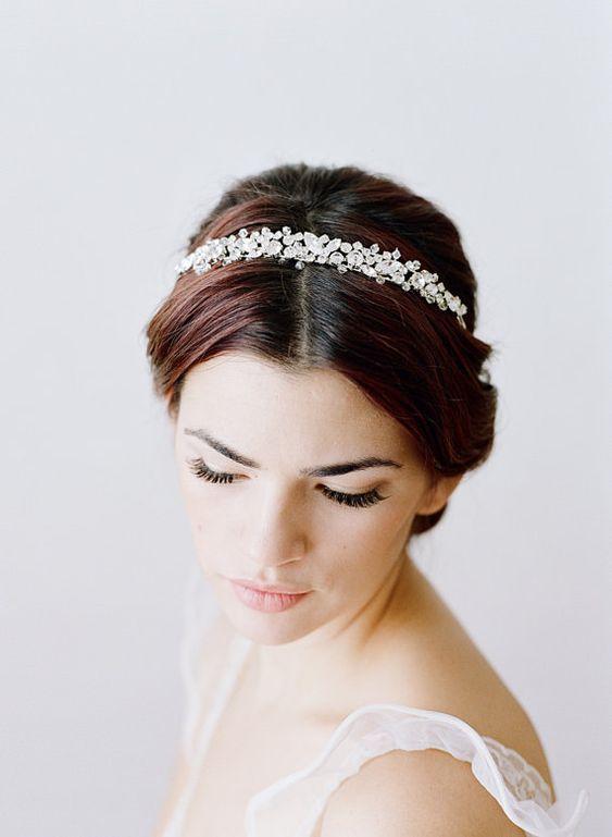 Bridal Headband Swarovski Crystal Headband von EdenLuxeBridal