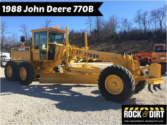 #ThrowbackThursday Check out this 1988 John Deere 770B. View more Motor Graders at http://www.rockanddirt.com/equipment-for-sale/motor-graders #RockandDirt #tbt #HeavyEquipment #MotorGraders