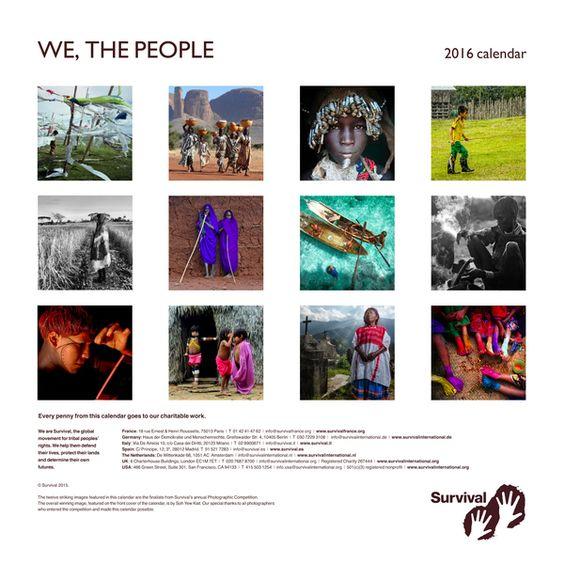 'We, The People' calendar 2016 - Survival International
