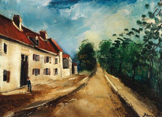 Maurice de Vlaminck (1876-1958) Maison près du chemin