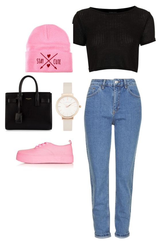 """""""Pink is the new pink."""" by itswhat3ver ❤ liked on Polyvore"""