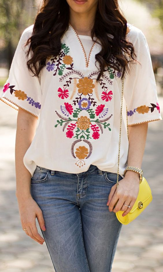 Sexy Embroidered Tops