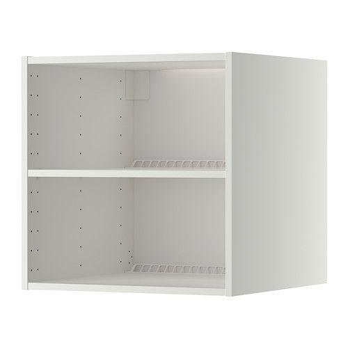 IKEA - METOD, Korpus Oberschr f Kühl-/Gefrierschr, weiß, 60x60x60 cm, , Inklusive 25 Jahre Garantie. Mehr darüber in der Garantiebroschüre.Mit Belüftungsschlitzen für gute Ventilation.1 versetzbarer Boden für bedarfsangepasste Aufbewahrung.Das Grundelement ist stabil konstruiert: 18 mm stark.Die melaminbeschichtete Oberfläche ist feuchtigkeitsbeständig, kratzfest und pflegeleicht.